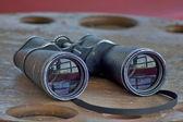 Old boat binoculars — Stock Photo
