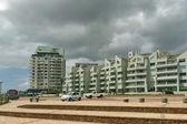 Lieu en mosaïque de plage ouest dans le nouveau quartier au cap — Photo