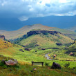 Bushmans valley in Drakensberg mountains - Stock Photo