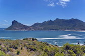 Chapman's Peak Drive. View to Hout bay and Hout town — Stock Photo