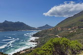Chapman's Peak Drive. View to part of beautiful Hout bay coastline. — Foto de Stock