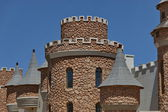 Part of turret and steeples in Chateau de Nates, South Africa — Stock Photo