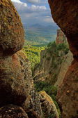 Belogradchik rock - look from one rock cleft — Stock Photo