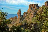"Rock formation ""Schoolgirl"" in belogradchik rocks. — Φωτογραφία Αρχείου"
