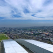 Above view to Durban city from Moses Mabhida stadium — Stock Photo