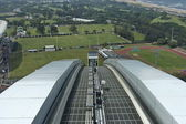 Skycar oncoming - Moses Mabhida stadium in Durban — Stok fotoğraf