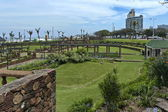 Beachgarden at seasite cost in Durban — Stockfoto