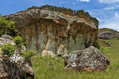 Interesting sedimentary rock in Giants Castle KwaZulu-Natal nature reserve — Stock Photo