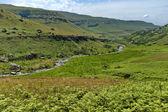 The Bushmans River valley in Giants Castle KwaZulu-Natal nature reserve — ストック写真