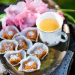 Royalty-Free Stock Photo: Homemade chocolates and tea