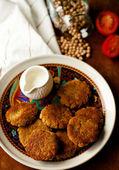 Chickpeas patties — Stock Photo