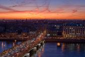 Evening bridge — Stock Photo