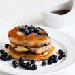 Stock Photo: Blueberry pancakes