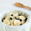 Porridge with blueberries — Stock Photo
