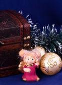 Noel melek biblo — Stok fotoğraf