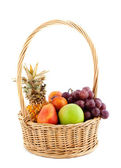 Fresh fruit in the basket — Stock Photo