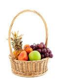 Fresh fruit in the basket — Stock Photo
