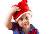 Bambino santa natale — Foto Stock