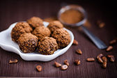 Homemade truffles — Stock Photo
