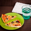 Stock Photo: Slice of pizza
