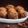 Stock Photo: Homemade truffles