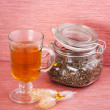 Stock Photo: Lavender tea