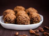 Homemade truffles — Stock Photo