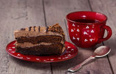 Slice of cake — Stock Photo