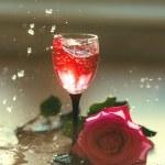 Strawberry Drink Splash — Stock Photo