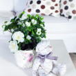 Flowers in modern living room — Stock Photo