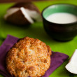 Stock Photo: Fresh baked coconut macaroons