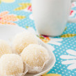 Homemade coconut biscuits  — Stock Photo