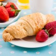 Breakfast with coffee and croissant — Stock Photo #29957723