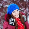 Young woman winter portrait. — Stock Photo #38862453