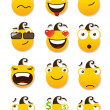 set of smileys — Stock Vector