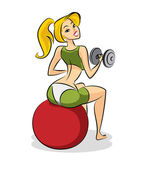 Woman fitness — Stock Vector