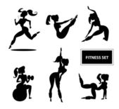 Woman fitness set — Stock Vector