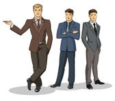 Businessman group standing — Stock Vector