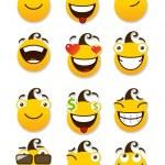 Set of smileys — Stock Vector #22895050