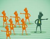 Business opposition — Stock Vector