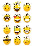 Set of smileys — Stock Vector