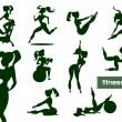 Woman fitness set — Stock Vector
