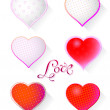 Hearts set for Valentine's Day — Stock Vector