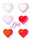 Hearts set for Valentine's Day — Stock vektor
