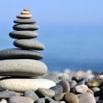 Pyramid balance of mineral stones — Stock Photo