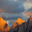 Sunset on the Dolomites - Stock Photo