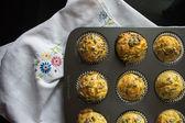 Savory muffins — Stock Photo