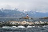 Ushuaia lighthouse — Stock Photo