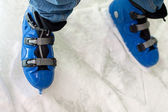 Blue skates — Stock Photo