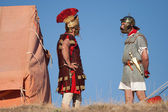 In the roman camp — Stock Photo